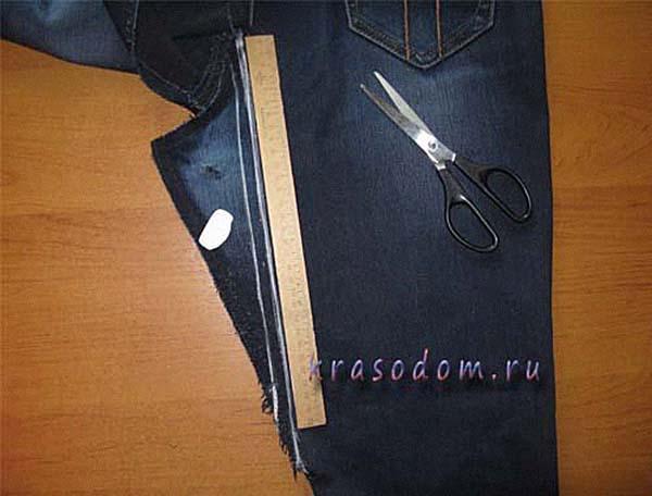 Как красиво заделать протертые дырки в джинсах между